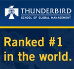 Thunderbird Ranked #1 International Business School for MBA